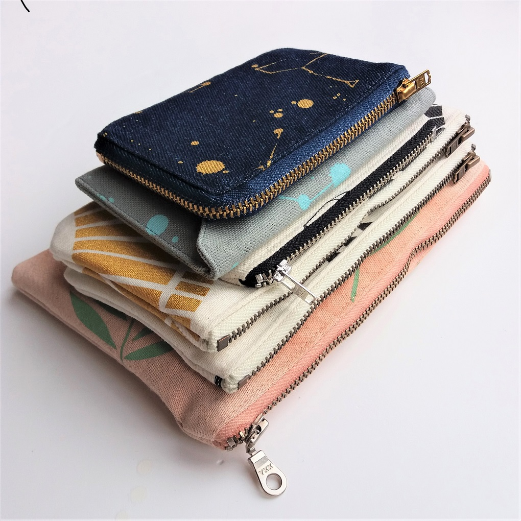eco friendly zipper pouches by Grey Whale