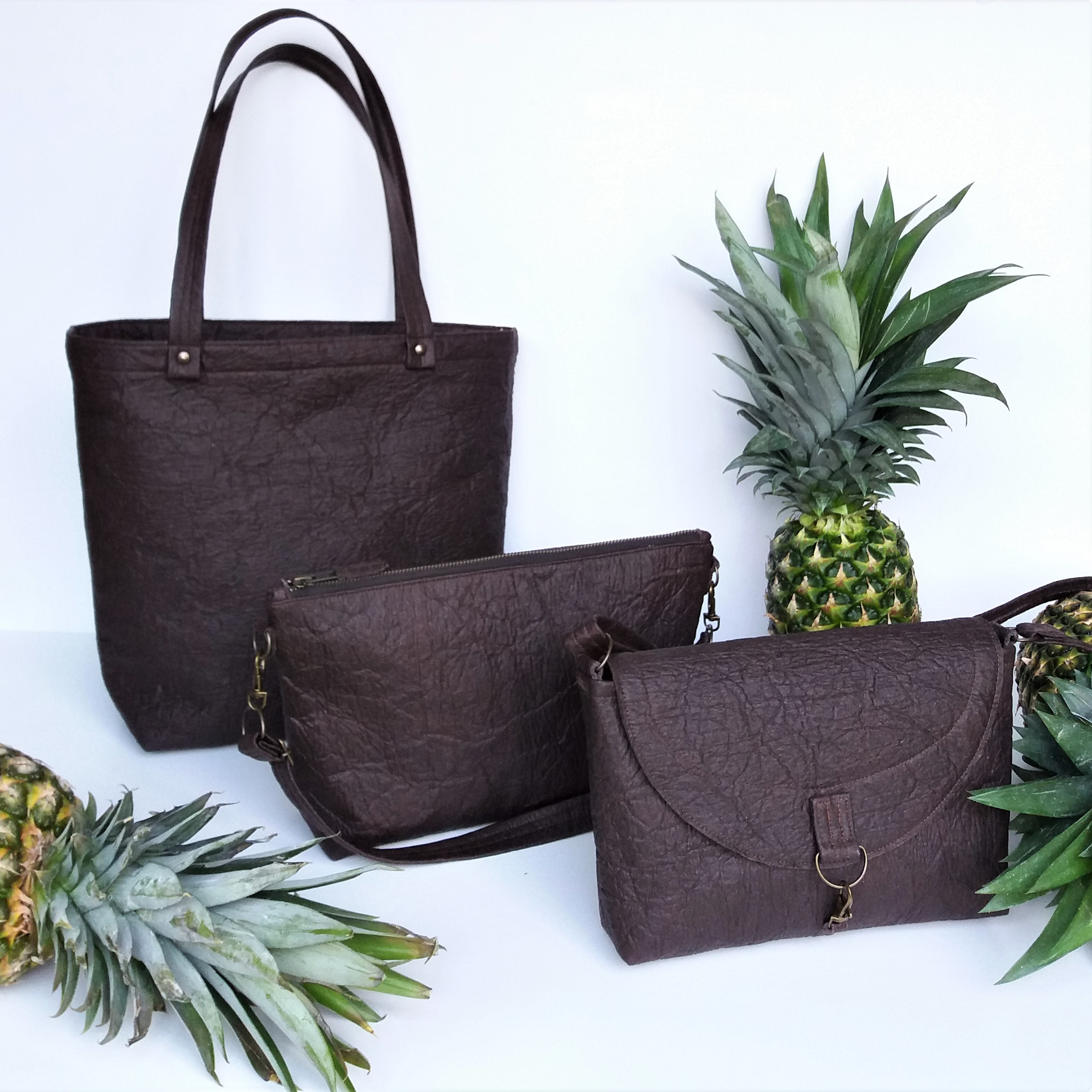 pinatex vegan bag by grey whale